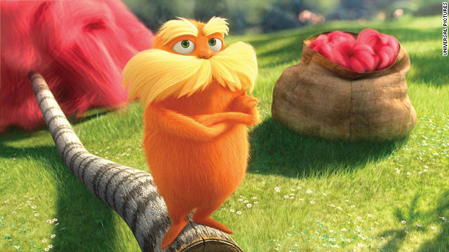 """The Lorax"" will finish the weekend with a cumulative tally of nearly $122 million in just 10 days."