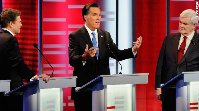 Among the chances he missed, Mitt Romney failed to differentiate himself from his front-runner rival Newt Gingrich.