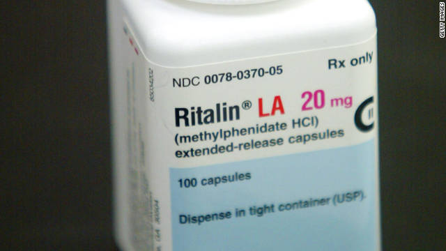 A bottle of Ritalin sits on the counter of the Post Haste Pharmacy And Surgical Store on June 16, 2003 in Hollywood, Florida.
