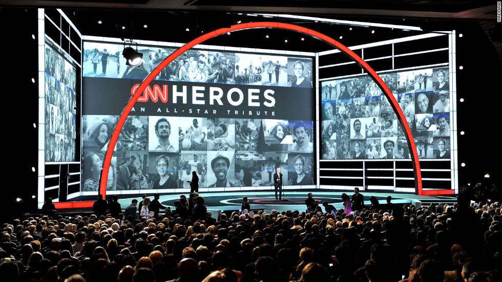 "Celebrities joined CNN in honoring everyday people who are changing the world in Sunday night's ""CNN Heroes: An All-Star Tribute"" show."