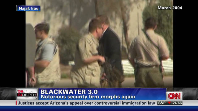 Blackwater changes name for second time