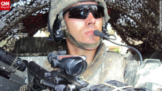 Spencer Alexander, 24, deployed to Iraq in August 2009. He stayed until July 2010.