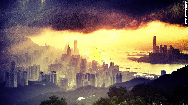 An Instagram photo of the Hong Kong skyline by Tyson Wheatley, a Senior Editor for CNN.com.
