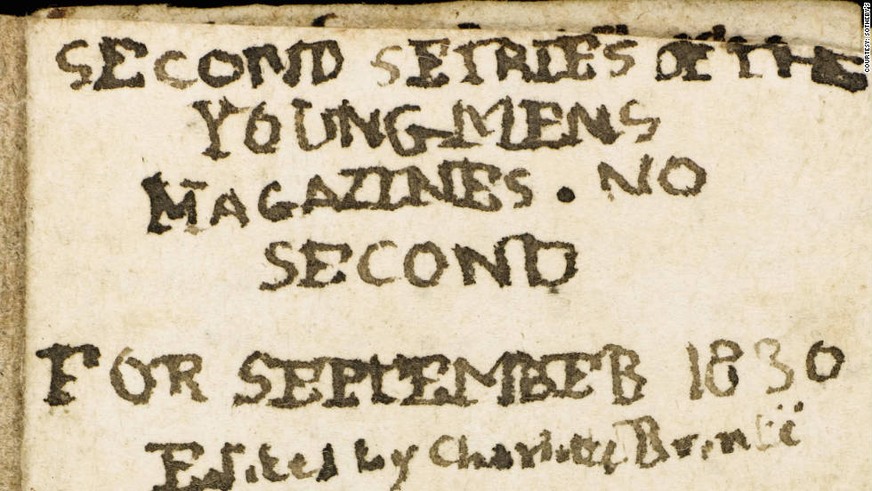 "The manuscript is one of a series of miniature magazines created by the ""Jane Eyre"" author when she was just 14."