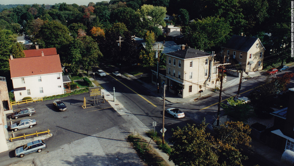 The DiGuglielmo family's Venice Deli in Dobbs Ferry, New York, is on the left. Laura's Pizza Den sits across the street on the right.