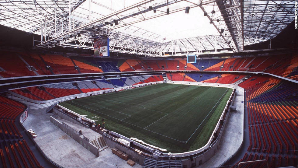 Ajax play their home games at the Amsterdam ArenA.