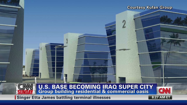 Iraqis turn military base into a hotel