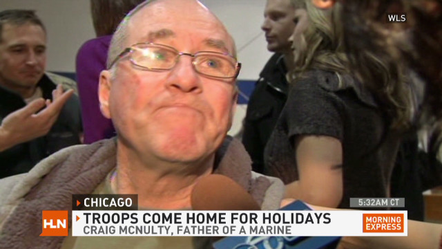 U.S. troops come home for holidays