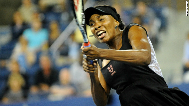 American Venus Williams has not played competitively since withdrawing from the U.S. Open in August.