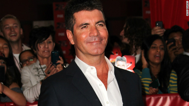 "Simon Cowell arrives to the ""X Factor"" premiere in Hollywood, California on September 14, 2011"
