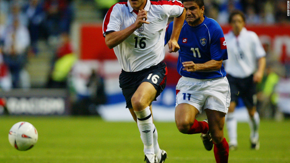 Terry's impressive form was recognized in 2003 when he was handed his England debut as a substitute in a 2-1 victory over Serbia and Montenegro.
