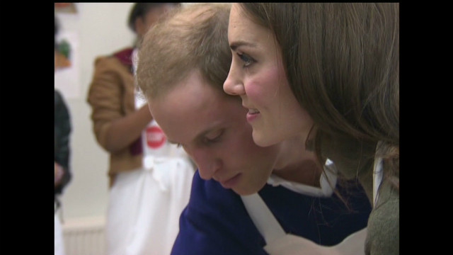 William and Catherine visit homeless