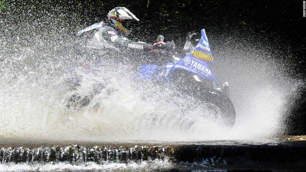 Argentina's Alejandro Patronelli is pictured here en route to victory in the quadbike division in 2011. Patronelli finished the 2010 Dakar as runner-up, with his younger brother Marcos taking glory.