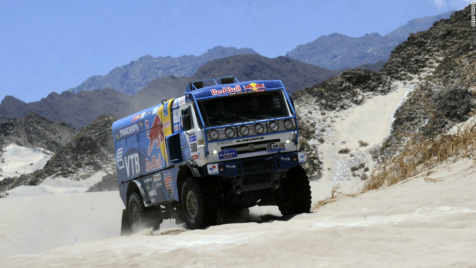 "Russia's Vladimir Chagin has been dubbed the ""Tsar of the Dakar"" for his dominance of the truck category. The 41-year-old's victory in 2011 was his seventh."