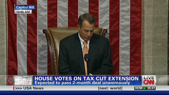 House passes tax cut extension