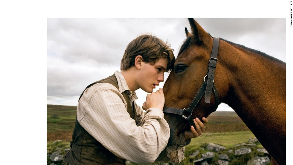 "Steven Spielberg's ""War Horse"" stars Jeremy Irvine as a young man whose horse is sold and used as a cavalry mount during World War I."