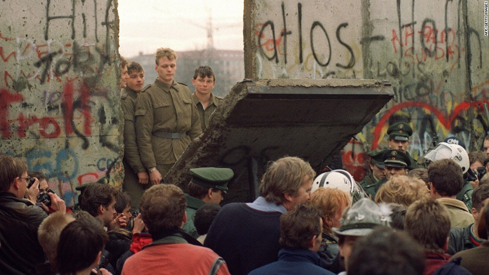 Autumn, winter 1989: Upheaval sweeps the Soviet-sponsored states, with the symbolic collapse of the Berlin Wall accelerating change throughout the Eastern Bloc.