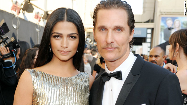 Matthew McConaughey and Camila Alves attend the 39th AFI Life Achievement Award on June 9, 2011.