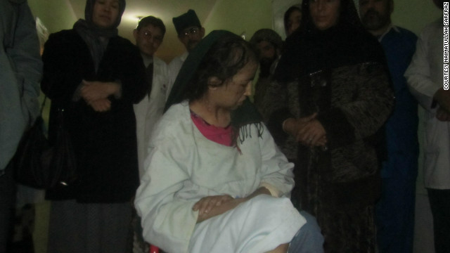 A picture of the 15-year-old taken in a hospital in Afghanistan's Baghlan province on Tuesday.