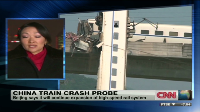 China places blame over train crash