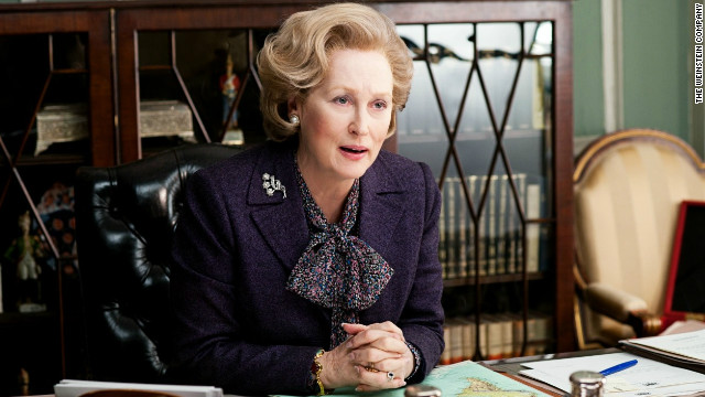 "Meryl Streep plays Margaret Thatcher in the movie ""The Iron Lady."""