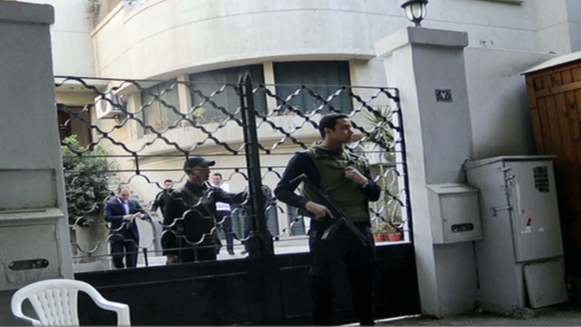 Pro-democracy offices raided in Egypt