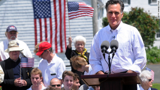 Mitt Romney announces in Stratham, New Hampshire, in June that he's running for the GOP nomination.