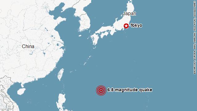 Magnitude Quake Hits Japan CNN - Japan map quake