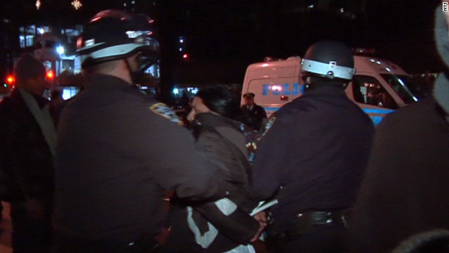 Police arrested dozens of Occupy Wall Street demonstrators in New York on New Year's Eve.