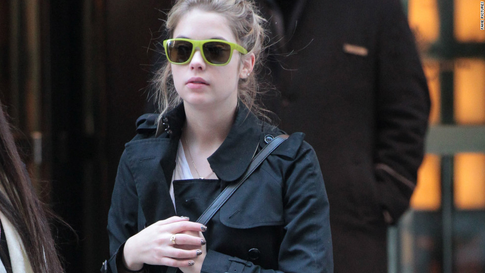 Ashley Benson leaves her hotel in New York City.