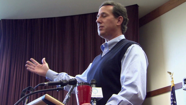 Santorum's rise in Iowa