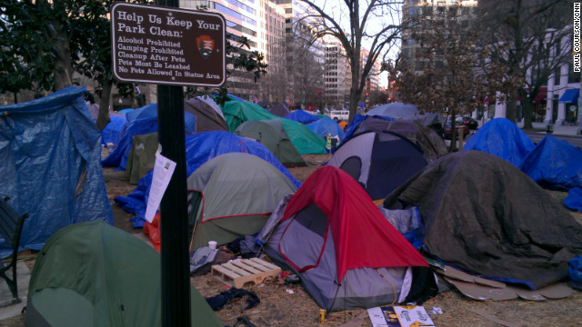 Demonstrators at an Occupy site in Washington have settled in as authorities allow their continued encampments.