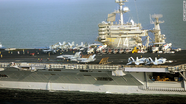 The aircraft carrier USS John C. Stennis  is in the Persian Gulf region.