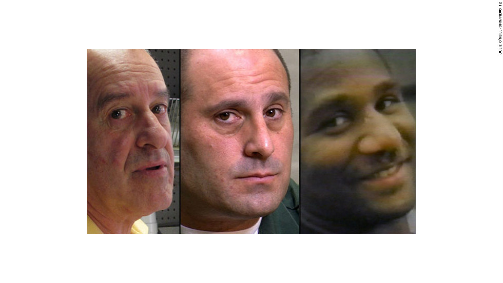 A deadly fight between Richard DiGuglielmo Sr., left, his son Richard Jr., center and Charles Campbell, right, sparked a bizarre legal battle. Click through the gallery for details.
