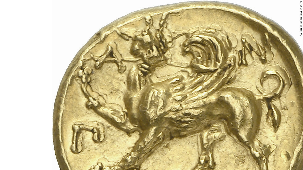 "Hill says the coin, which also features the figure of a winged griffin, is ""one of the masterpieces of ancient Greek art."" The entire collection is expected to sell for $8m."