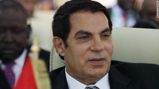 Former Tunisian President Zine El Abidine Ben Ali, pictured here in 2009, is being tried in absentia.