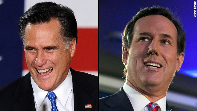 Mitt Romney, left, and Rick Santorum are shifting their focus to New Hampshire after a 1-2 finish in Iowa.