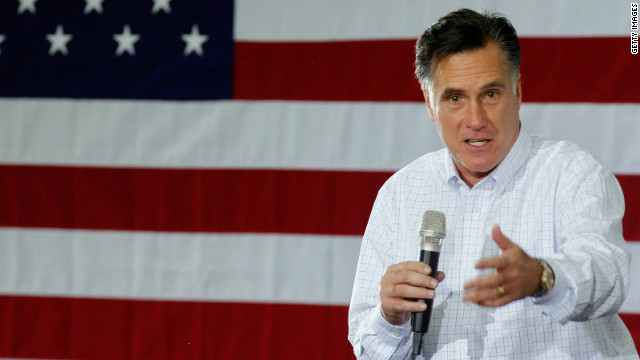 Former Massachusetts Gov. and Republican presidential candidate Mitt Romney addresses supporters during a campaign rally at the Weber Paper Company January 2, 2012 in Dubuque, Iowa