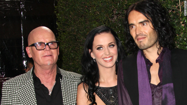 Keith Hudson, Katy Perry's father, shown here with Katy Perry and Russell Brand in 2010.