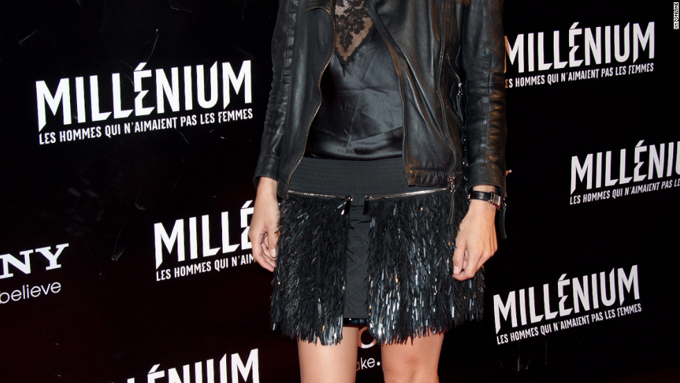 Elodie Yung attends a movie premiere in Paris.