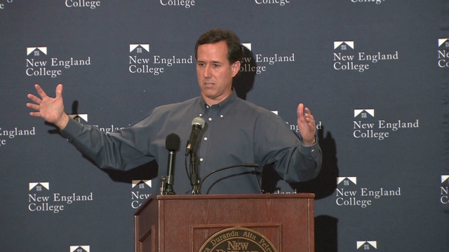 Santorum booed at New Hampshire event