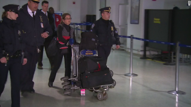 Lori Berenson arrived in the United States on December 20, 2001 for the first time since her 1995 arrest.