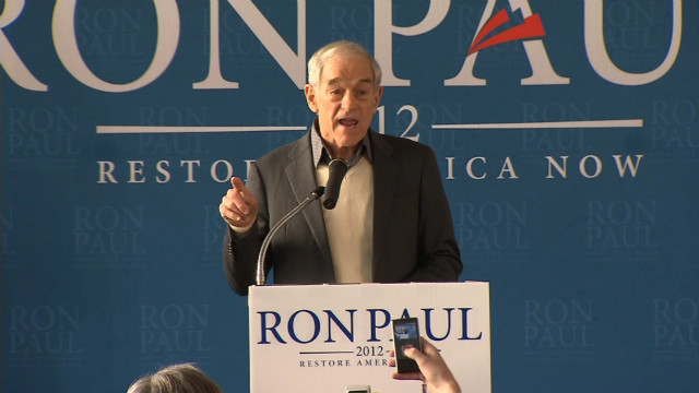 Ron Paul speaks at the Jet Aviation Rally in Nashua New Hampshire.