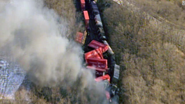 The three-train accident occurred about 1:15 p.m. Friday, about 11 miles northeast of Valparaiso, officials said.