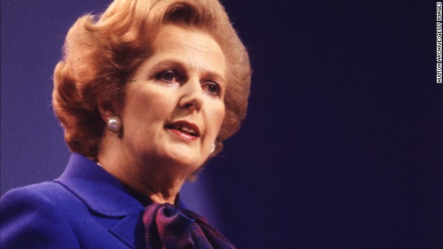 British Conservative politician and first woman to hold the office of Prime Minister of Great Britain Margaret Thatcher at the Tory Party Conference in Brighton in 1980.
