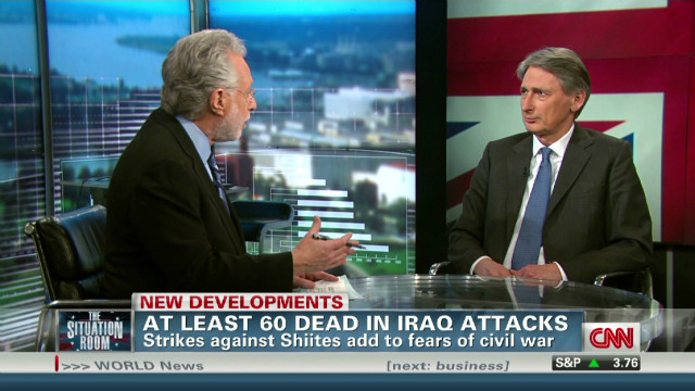 Hammond: Not looking good in Baghdad