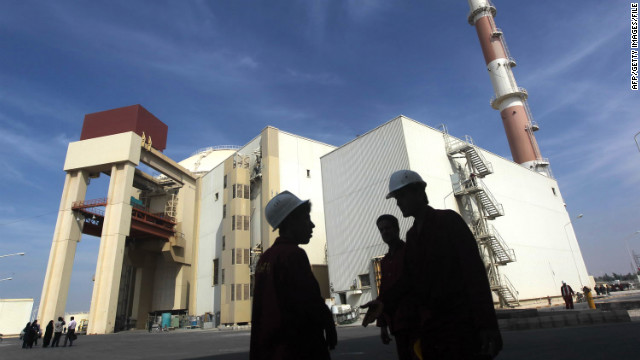 An October 2010 photo shows the reactor building at the Russian-built Bushehr nuclear power plant in southern Iran.