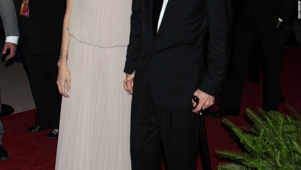 Angelina Jolie and Brad Pitt attend the Palm Springs International Film Festival Awards Gala in Palm Springs.