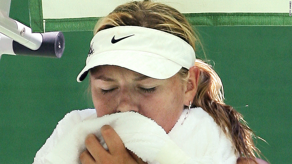 The Melbourne sun can often soar to uncomfortable levels, with the 2007 tournament proving to be particularly hot. Maria Sharapova was among those to suffer in the conditions despite the Extreme Heat Policy that was introduced in 1998. This comes into play when temperatures hit 35 degrees Celcius, and can result in matches being suspended until the weather cools down.