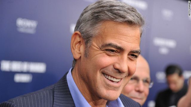 Actor George Clooney attends the premiere of 'The Ides of March' at the Ziegfeld Theater on October 5, 2011 in New York City